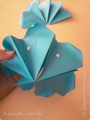 Мастер-класс Поделка изделие Оригами Роза из 15 квадратов Бумага фото 12