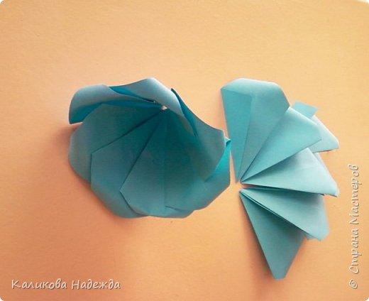 Мастер-класс Поделка изделие Оригами Роза из 15 квадратов Бумага фото 13