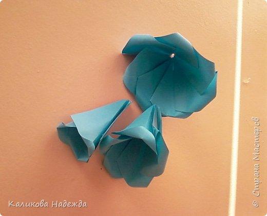 Мастер-класс Поделка изделие Оригами Роза из 15 квадратов Бумага фото 14