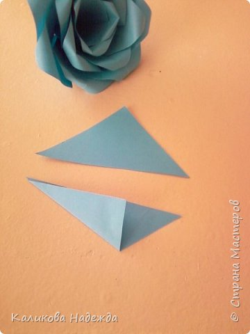 Мастер-класс Поделка изделие Оригами Роза из 15 квадратов Бумага фото 16