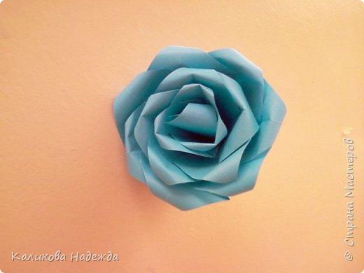 Мастер-класс Поделка изделие Оригами Роза из 15 квадратов Бумага фото 18
