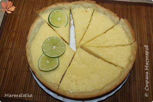 """Оболденный лаймовый пирог!!! Аромат на весь дом!!! Рецепт нашла в группе """"Хочу пирог""""! Еще не раз его приготовлю, только добавлю побольше лайма и в тесто и в начинку... Любителям лимонных пирогов советую приготовить, не пожалеете! фото 16"""