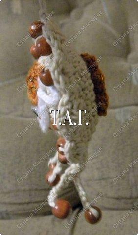 Игрушка Мастер-класс Поделка изделие Новый год Вязание крючком Игольница Овечка Бусины Клей Нитки Пряжа фото 6
