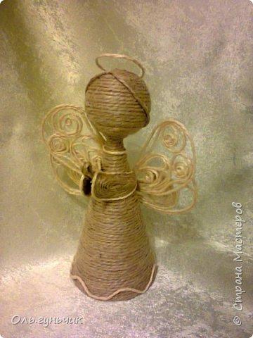 Поделка изделие Новый год Моделирование конструирование Ангелочки и доделки Шпагат фото 2