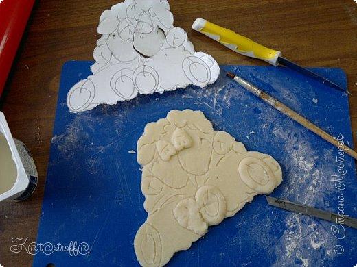 Новый год Лепка Овечки и небольшой процесс изготовления Тесто соленое фото 7