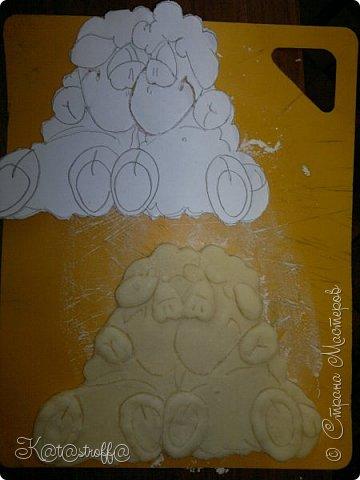 Новый год Лепка Овечки и небольшой процесс изготовления Тесто соленое фото 8