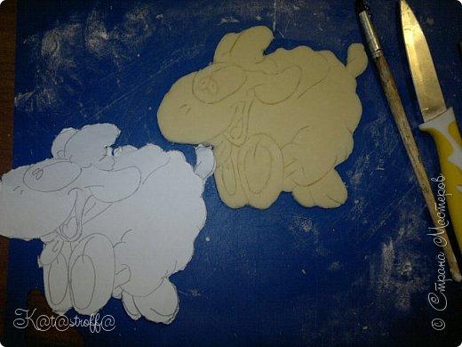 Новый год Лепка Овечки и небольшой процесс изготовления Тесто соленое фото 6