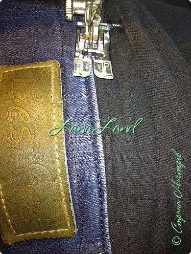 """здравствуйте,мои дорогие ,делюсь с вами как можно увеличить размер любимых джинс, уверена у каждой есть любимые,идеально сидящие штанцы,которые в поясе становятся маловаты))))животик растет,купила я себе брючки для беременных и спортивные штанишки,но джинсы,как ни крути вещь универсальная и подходит подо всё,искала я по магазинам беременные джинсики,но качество было просто ужас,а расцветка вообще кошмар,да и поддержки для живота в магазинных моделях совершенно нет,поэтому хочешь сделать хорошо,сделай сам)))решила из любимых сотворить""""чудо""""))) джинсики для пузика своими ручками из старых джинс и футболки, работа заняла 1,5 часа   фото не переворачивается ((( фото 20"""