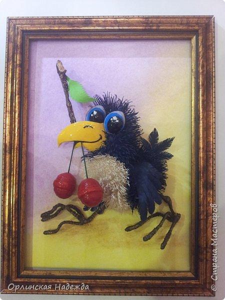 Картина панно рисунок Мастер-класс Бумагопластика Квиллинг ПТИЦА СЧАСТЬЯ Бумага Клей Проволока Шпагат фото 40