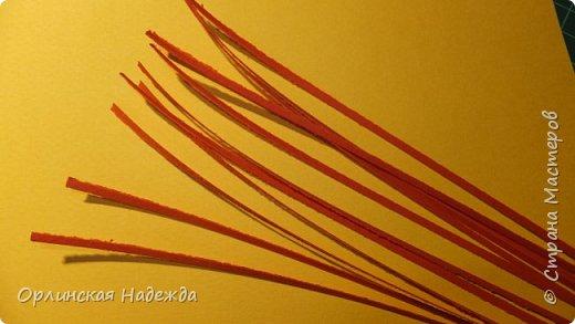 Картина панно рисунок Мастер-класс Бумагопластика Квиллинг ПТИЦА СЧАСТЬЯ Бумага Клей Проволока Шпагат фото 22