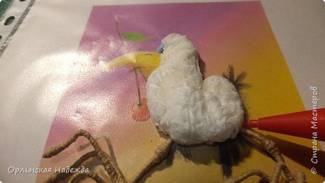 Картина панно рисунок Мастер-класс Бумагопластика Квиллинг ПТИЦА СЧАСТЬЯ Бумага Клей Проволока Шпагат фото 8