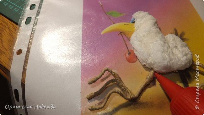 Картина панно рисунок Мастер-класс Бумагопластика Квиллинг ПТИЦА СЧАСТЬЯ Бумага Клей Проволока Шпагат фото 9