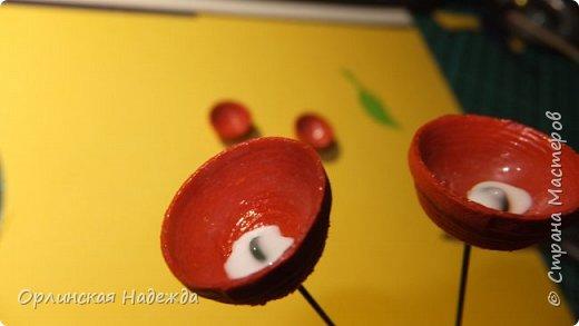 Картина панно рисунок Мастер-класс Бумагопластика Квиллинг ПТИЦА СЧАСТЬЯ Бумага Клей Проволока Шпагат фото 30
