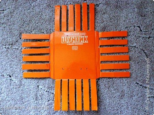 Мастер-класс Поделка изделие Плетение Корзинка из маек Картон Ткань фото 3