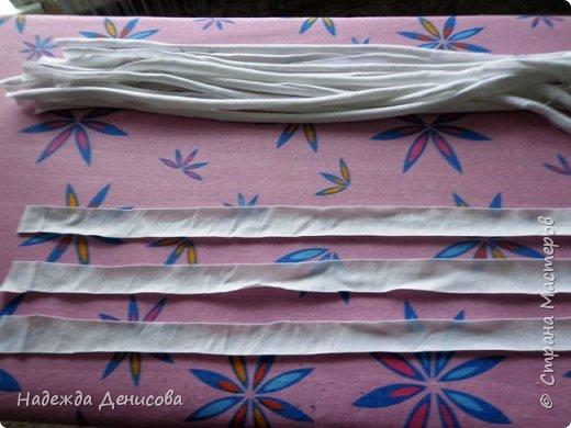 Мастер-класс Поделка изделие Плетение Корзинка из маек Картон Ткань фото 4
