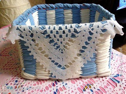Мастер-класс Поделка изделие Плетение Корзинка из маек Картон Ткань фото 1