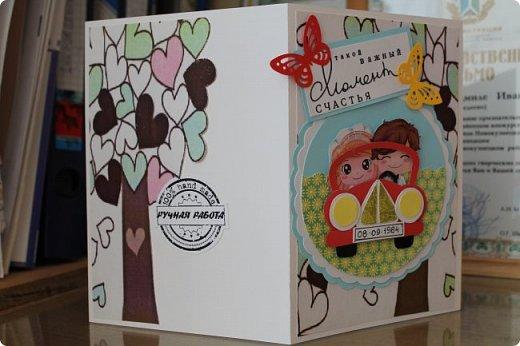 Мой первый опыт свадебной открытки. Открытка на заказ фото 12