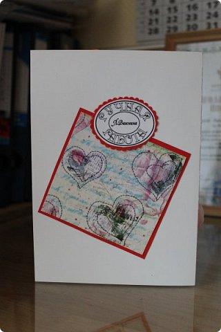 Мой первый опыт свадебной открытки. Открытка на заказ фото 3