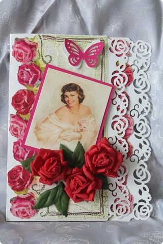 Выставляю на ваш суд серию женских открыток. Сделаны они в разное время. фото 5