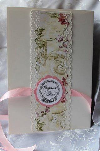 Юбилейная открытка. Такую форму подглядела у кого-то в интернете. http://fb.pinme.ru/pin/530ca4481f85119e7d2512bc/ фото 4