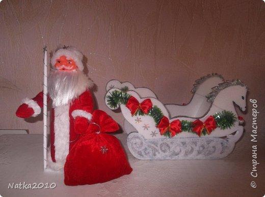 Дед мороз и сани иКак Интересные поделки