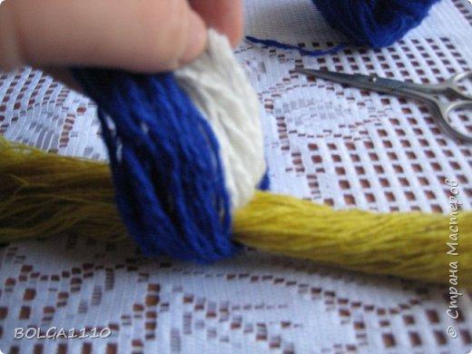 Мастер-класс Поделка изделие Синичка Бусины Клей Проволока Пряжа Семена фото 5