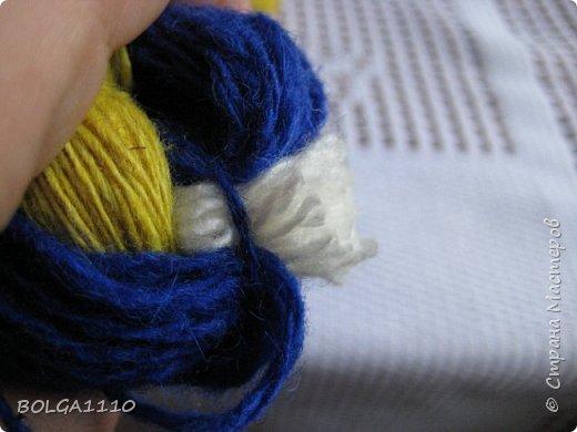 Мастер-класс Поделка изделие Синичка Бусины Клей Проволока Пряжа Семена фото 8