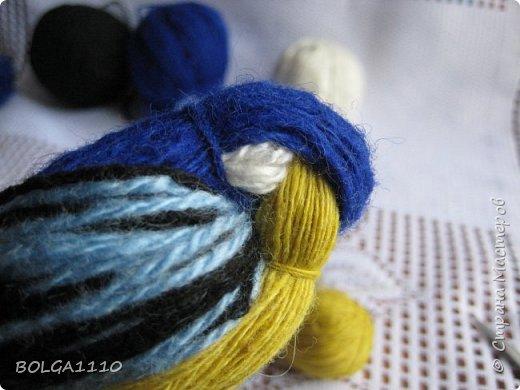 Мастер-класс Поделка изделие Синичка Бусины Клей Проволока Пряжа Семена фото 9