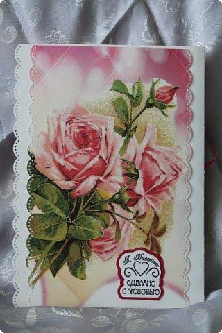 Юбилейная открытка. Такую форму подглядела у кого-то в интернете. http://fb.pinme.ru/pin/530ca4481f85119e7d2512bc/ фото 7