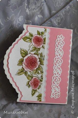 Еще одна свадебная открытка. Пробовала форму. Только загрузила почему-то с конца. это спинка открытки фото 1