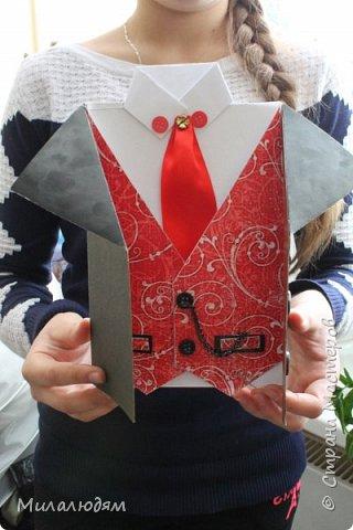 Здравствуйте мастера и мастерицы, и просто с интересом смотрящие! В предыдущей папке я выставляла самые первые работы - валентинки, с которых началось мое увлечение. А после валентинок пришли рубашки и пиджачки.  фото 7
