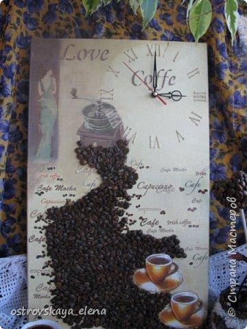 """""""Кофейный"""" комплект сделала в подарок своей знакомой: часы, подвеска и топиарий. фото 2"""