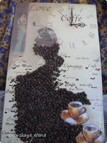 """""""Кофейный"""" комплект сделала в подарок своей знакомой: часы, подвеска и топиарий. фото 6"""
