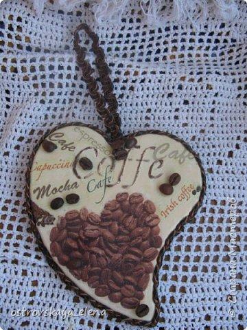 """""""Кофейный"""" комплект сделала в подарок своей знакомой: часы, подвеска и топиарий. фото 7"""