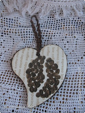 """""""Кофейный"""" комплект сделала в подарок своей знакомой: часы, подвеска и топиарий. фото 8"""