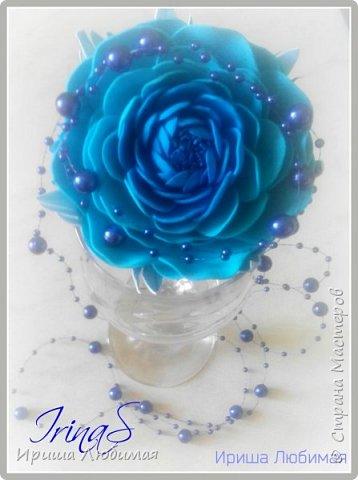 Мастер-класс Мастер класс Изготовление цветка Ранункулюс из фоамирана Фоамиран фом фото 28