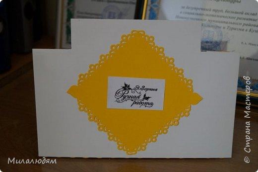 Здравствуйте! Сегодня выставляю осенние открытки своих кружковцев. Девочка делала открытку бабушке на День рождения. Катюше 8 лет. На осеннюю распечатку мы наклеили еще веточки кленовые. Немножко слилось и аляповато получилось. фото 12