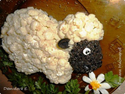салат овечка в колпачке фото и рецепт