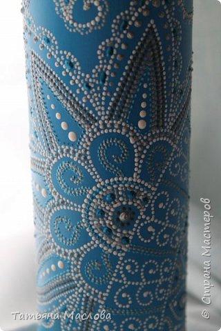 Декор предметов Роспись ЗИМНИЕ УЗОРЫ Бутылки стеклянные фото 2