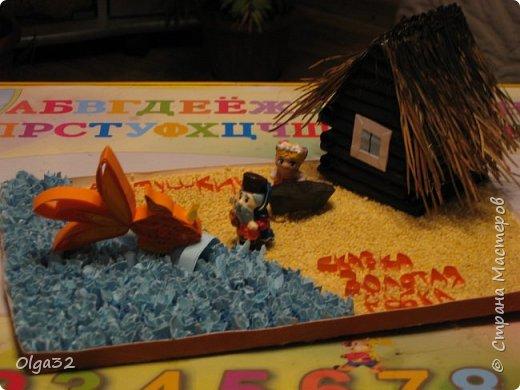 Вот такую поделку мы с ребенком сделали в детский сад по сказке А.С. Пушкина о золотой рыбке.