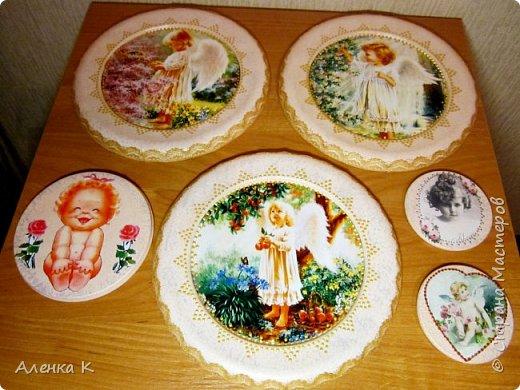 Всем привет! Гипс меня не отпускает))) Решила сделать панношки с ангелочками, вот получился такой триптих. фото 9