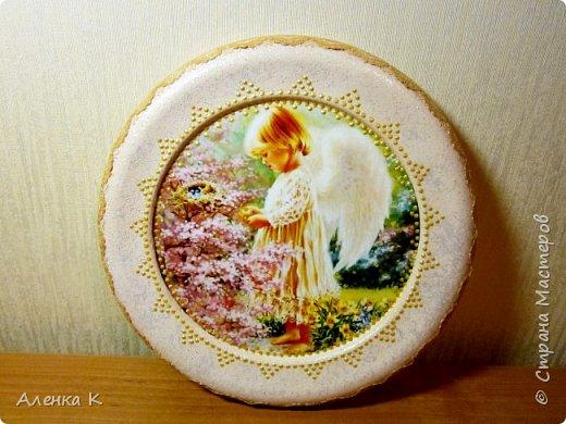 Всем привет! Гипс меня не отпускает))) Решила сделать панношки с ангелочками, вот получился такой триптих. фото 2
