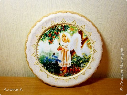 Всем привет! Гипс меня не отпускает))) Решила сделать панношки с ангелочками, вот получился такой триптих. фото 1