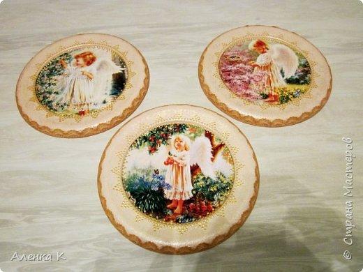Всем привет! Гипс меня не отпускает))) Решила сделать панношки с ангелочками, вот получился такой триптих. фото 4