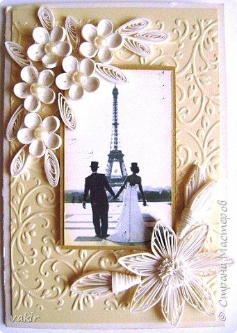 Доброго времени суток всем! Сегодня покажу три свадебных открыточки. фото 6