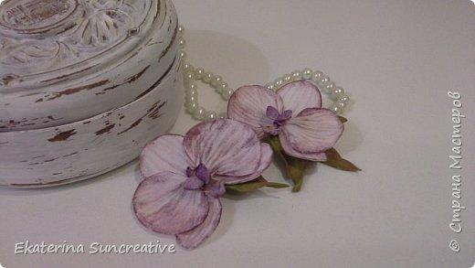 Вот такие орхидеи фаленопсис получились! Это моя вторая работа, захотелось сделать беленькие.. фото 3