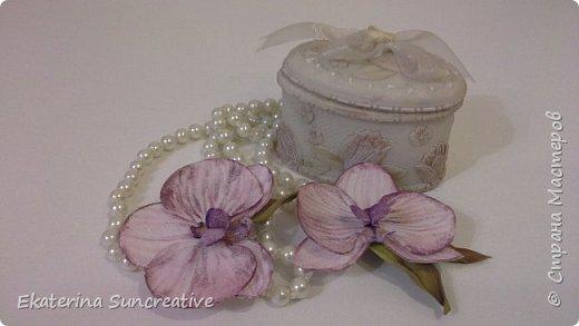 Вот такие орхидеи фаленопсис получились! Это моя вторая работа, захотелось сделать беленькие.. фото 4