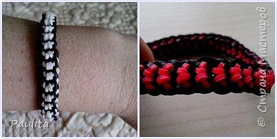 Eto odna iz liubimix moix texnik pletenija rezinovix brasletov - Boxed Bow Bracelet.