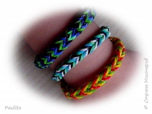 Loom bands - резиновые браслеты (много картинок)