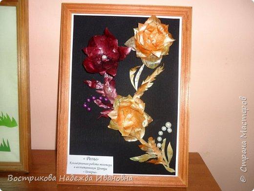 Цветы из луковой щелухи фото 1